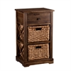 Southern Enterprises Jayton 2-Basket Storage Shelf
