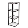 Southern Enterprises Metal/Glass Corner Shelf - Distressed Black