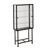 Southern Enterprises Metal/Glass Sliding-Door Display Cabinet