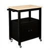Southern Enterprises Kenner Kitchen Cart - Black