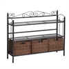 Southern Enterprises Celtic 3-Drawer Bakers Rack - Gunmetal Gray
