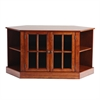 Southern Enterprises Thomas Corner Media Stand  - Walnut