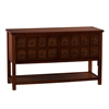 Southern Enterprises Apothecary Console/TV Stand - Brown Mahogany