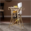 Southern Enterprises Newnan Wine Rack Table - Gold