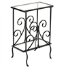 Southern Enterprises Decorative Metal Magazine Table