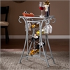 Southern Enterprises Newnan Wine Rack Table - Silver