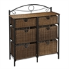 Southern Enterprises Iron/Wicker Storage Chest