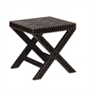 Southern Enterprises Reptilian Nailhead X Accent Table - Black