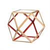Jenna Accent Table - Red & Champagne