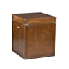 Southern Enterprises Steamer Trunk End Table