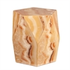 Southern Enterprises Roxbury Faux Stone Accent Table - Tan Marble