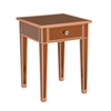 Mirage Colored Mirror Accent Table - Bronze