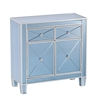 Southern Enterprises Mirage Colored Mirrored Cabinet - Blue