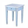 Southern Enterprises Mirage Colored Mirror Accent Table - Blue