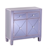 Southern Enterprises Mirage Colored Mirrored Cabinet - Purple