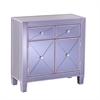Southern Enterprises Mirage Colored Mirrored Cabinet - Purple