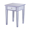 Southern Enterprises Mirage Colored Mirror Accent Table - Purple