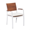 Southern Enterprises Mandalay Outdoor Easy Chairs 2pc Set - Soft White