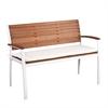 Southern Enterprises Mandalay Outdoor Bench - Soft White