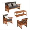 Southern Enterprises Catania Outdoor Deep Seating - 4pc Set
