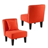 Southern Enterprises Holly & Martin Purban 2pc Slipper Chairs - Red-Orange