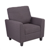 Southern Enterprises Holly & Martin Plushen Chair - Anthracite