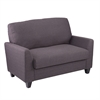 Southern Enterprises Holly & Martin Plushen Loveseat - Anthracite