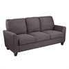 Southern Enterprises Holly & Martin Plushen Sofa - Anthracite