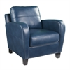 Southern Enterprises Bolivar Faux Leather Lounge Chair - Royal Blue