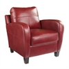 Southern Enterprises Bolivar Faux Leather Lounge Chair - Red