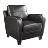 Southern Enterprises Bolivar Faux Leather Lounge Chair - Black