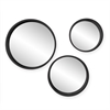 Southern Enterprises Holly & Martin Daws Wall Mirror 3pc Set - Black
