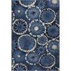 Allure 4050 Blue Starburst 5' x 7' Size Area Rug