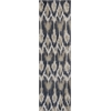 "Allure 4057 Ivory/Grey Horizon 2'3"" x 7'6"" Runner Size Area Rug"