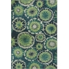 Allure 4060 Green Starburst 5' x 7' Size Area Rug