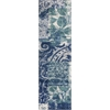 "Allure 4062 Blue/Green Artisan 2'3"" x 7'6"" Runner Size Area Rug"