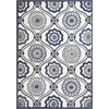 "Allure 4082 Ivory/Navy Mosaic 7'7"" x 10'10"" Size Area Rug"
