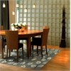 "Anise 2405 Grey Leaves 7'9"" x 9'9"" Size Area Rug"