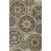 """Anise 2408 Ivory/Seafoam Mosaic 5' x 7'6"""" Size Area Rug"""