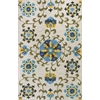 "KAS Rugs Anise 2410 Ivory/Blue Allover Suzani 5' x 7'6"" Size Area Rug"