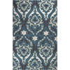"KAS Rugs Anise 2411 Teal Damask 5' x 7'6"" Size Area Rug"