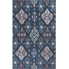 "KAS Rugs Anise 2412 Blue Allover Ikat 5' x 7'6"" Size Area Rug"