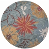 "KAS Rugs Anise 2415 Ocean Wildflowers 5'6"" Round Size Area Rug"