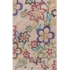 "KAS Rugs Anise 2418 Beige Sunshine Flora 7'9"" x 9'9"" Size Area Rug"