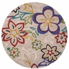 "KAS Rugs Anise 2418 Beige Sunshine Flora 5'6"" Round Size Area Rug"