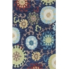 "Anise 2422 Navy Courtney 7'9"" x 9'9"" Size Area Rug"