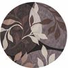 "Bali 2807 Plum/Black Mosaic 5'6"" Round Size Area Rug"