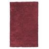 "Bliss 1564 Red Shag 3'3"" x 5'3"" Size Area Rug"