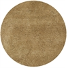 Bliss 1567 Gold Shag 6' Round Size Area Rug