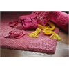 KAS Rugs Bliss 1576 Hot Pink Shag 5' x 7' Size Area Rug